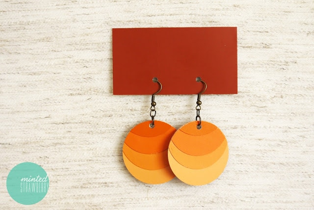 Paint chip ombre earrings