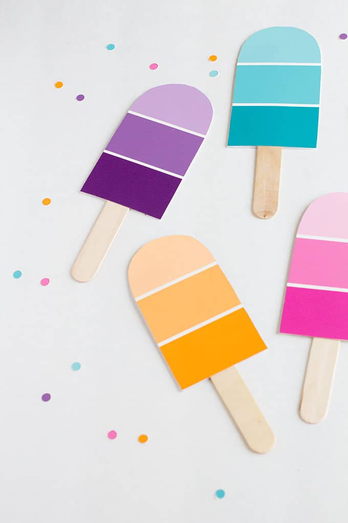 Paint chip party invitations