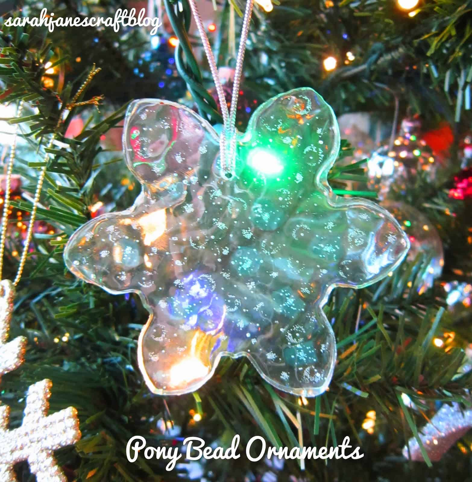 Pony bead snowflake ornament
