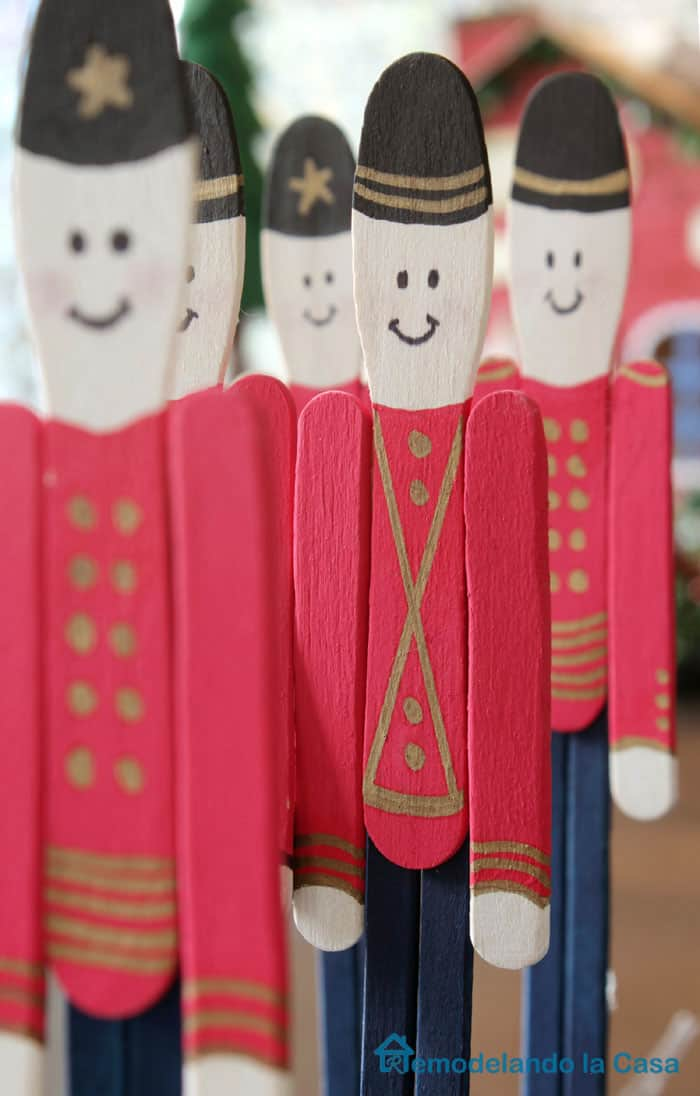 Popsicle stick soldiers