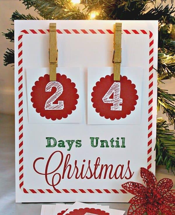 Printable Christmas calendar