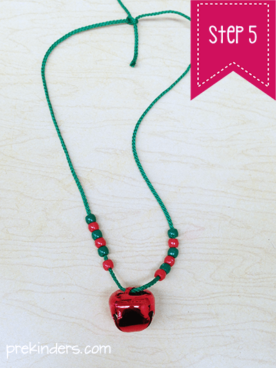 Red jingle bell necklace