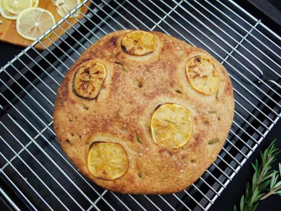 Rosemary lemon focaccia