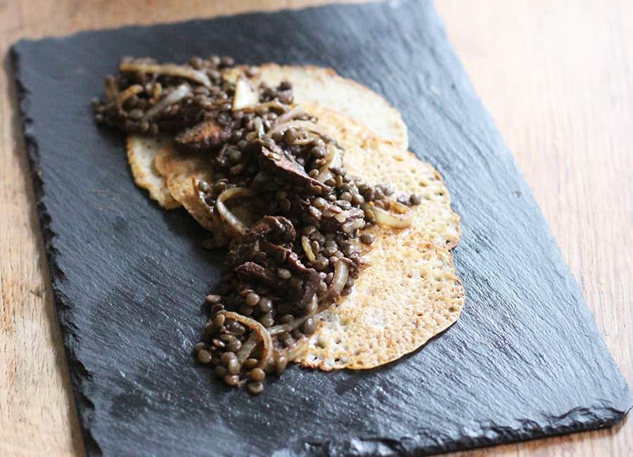Savoury mushroom pancakes