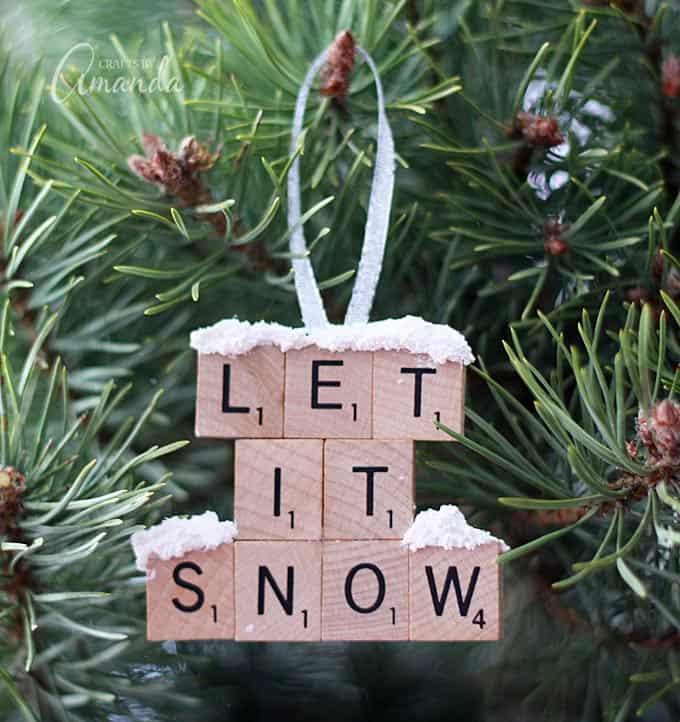 Scrabble Christmas ornament