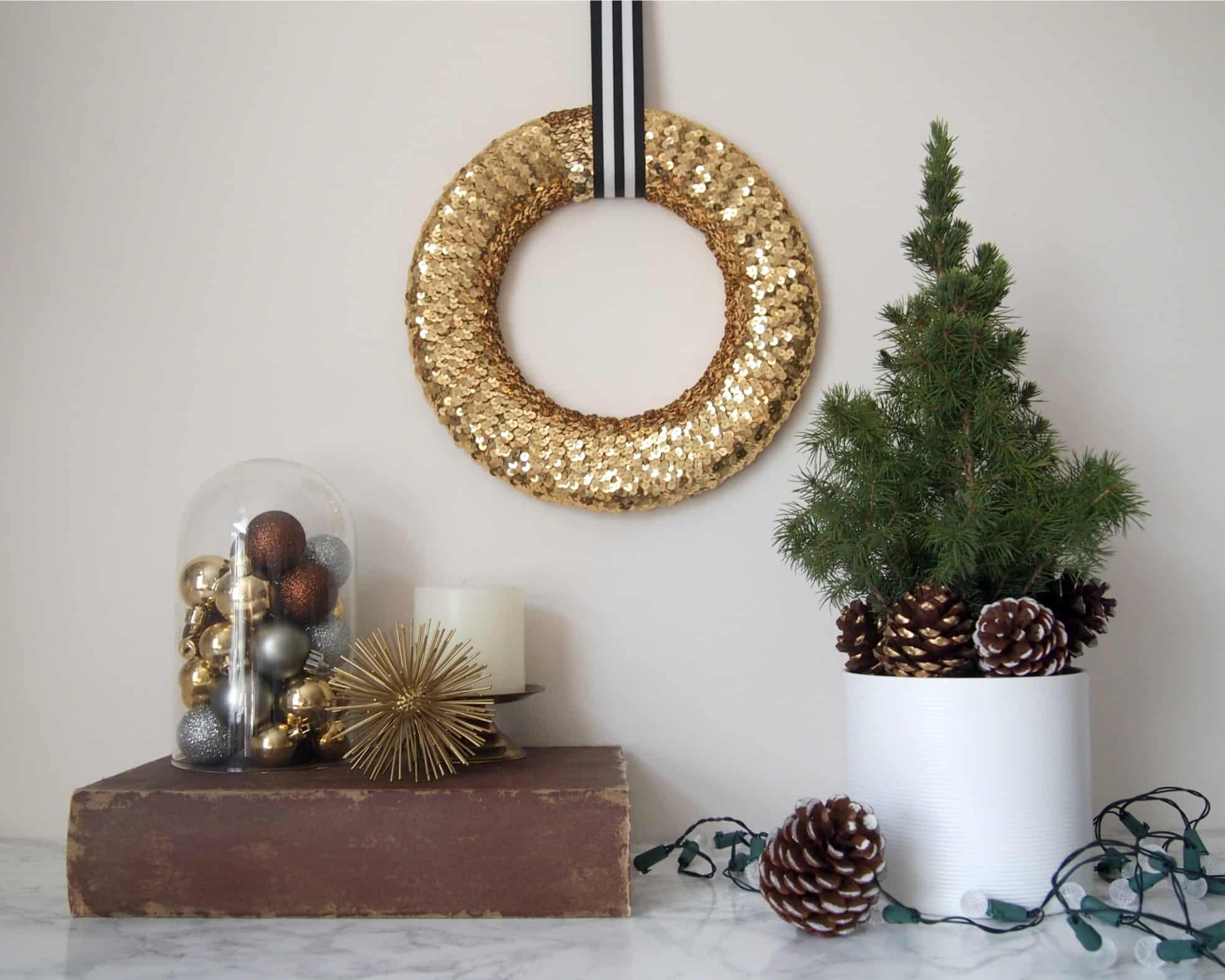 Sequin wreath