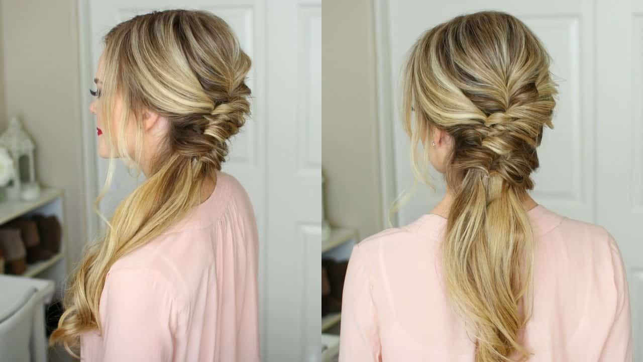 Sideswept NYE hairstyle