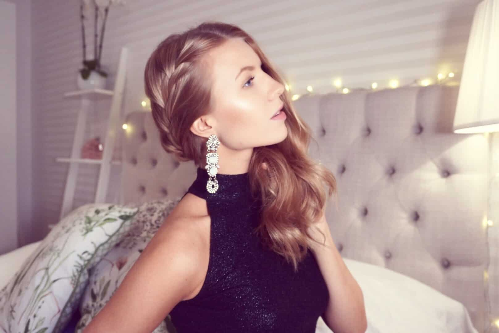 Simple NYE glam hairstyle