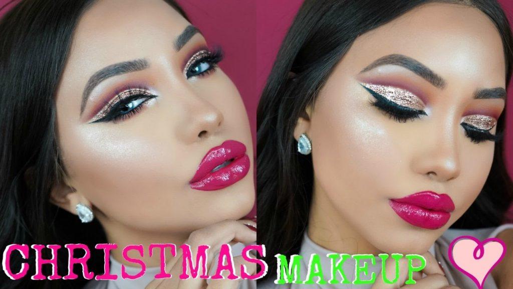 Festive Holiday Glam 13 Christmas Makeup Styles For Festivity Ahead - Christmas-makeup