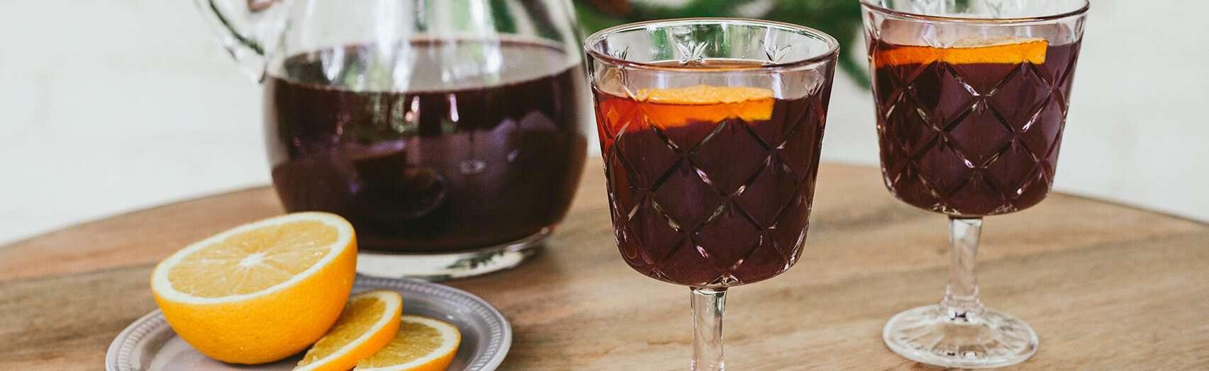 Spiced ginger mulled wine