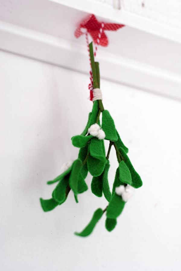 A Holiday Smooch DIY Mistletoes To Hang Around Your Home