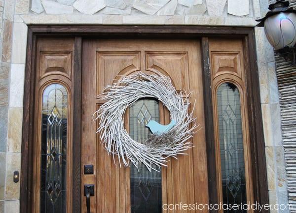 Twig winter wreath