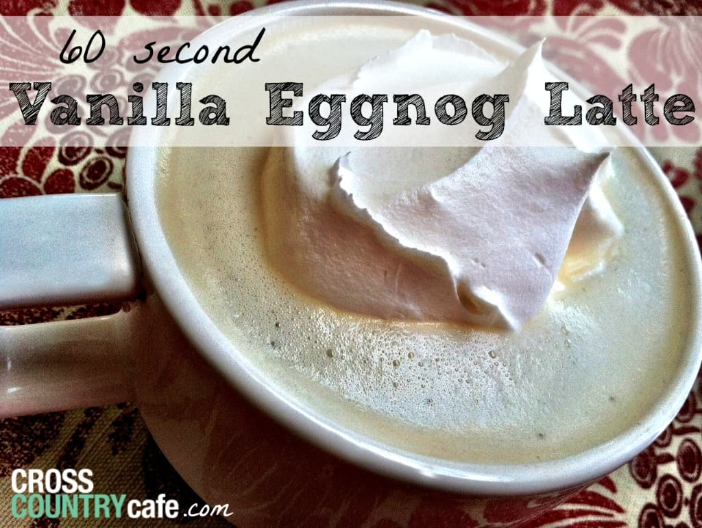 Vanilla eggnog latte