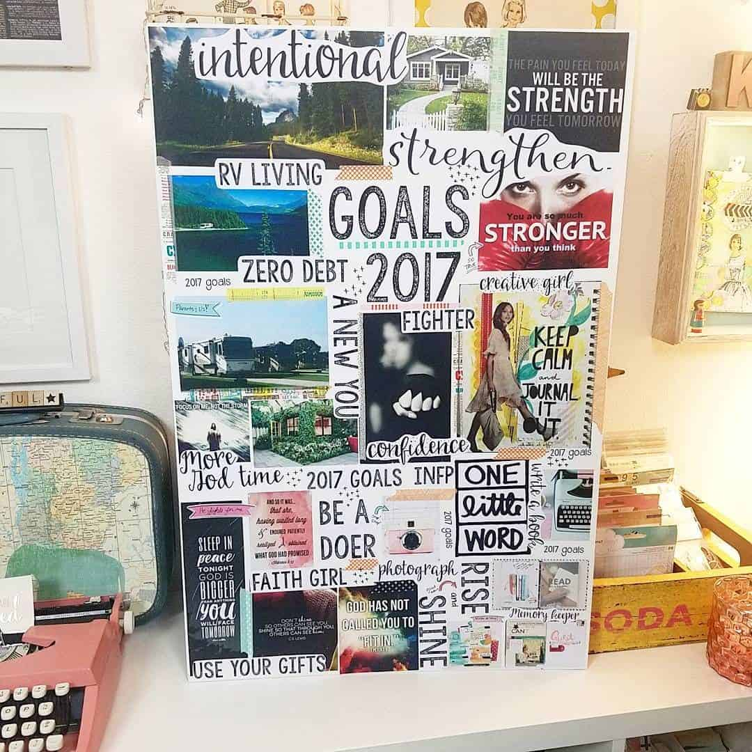 Visual motivation board