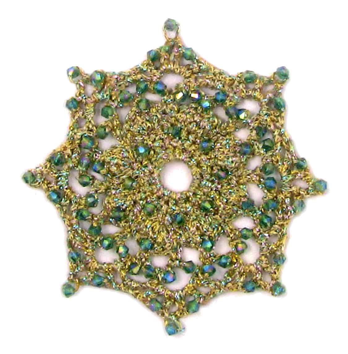Beaded crochet ornaments