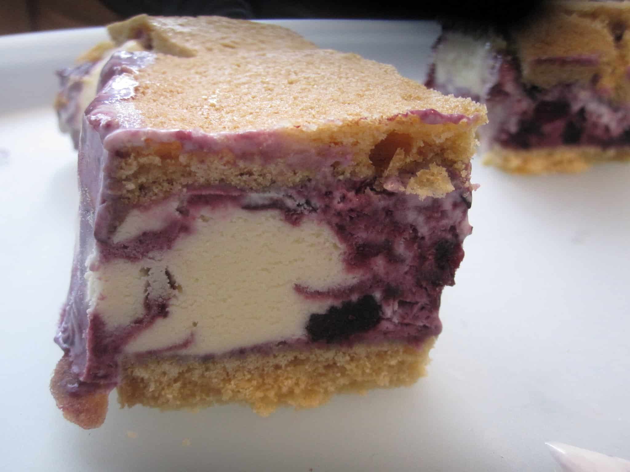Blueberry ice cream sandwiches