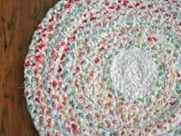 Braided spiral rag rug 200x150 DIY Rag Rugs That are Super Fun to Make