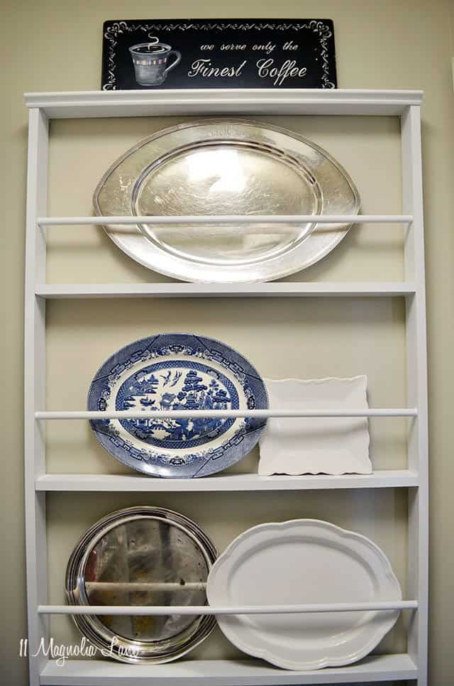 Budget friendly plate rack