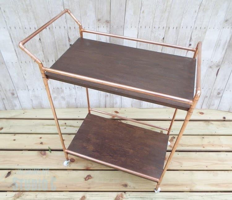 Chic metallic bar cart
