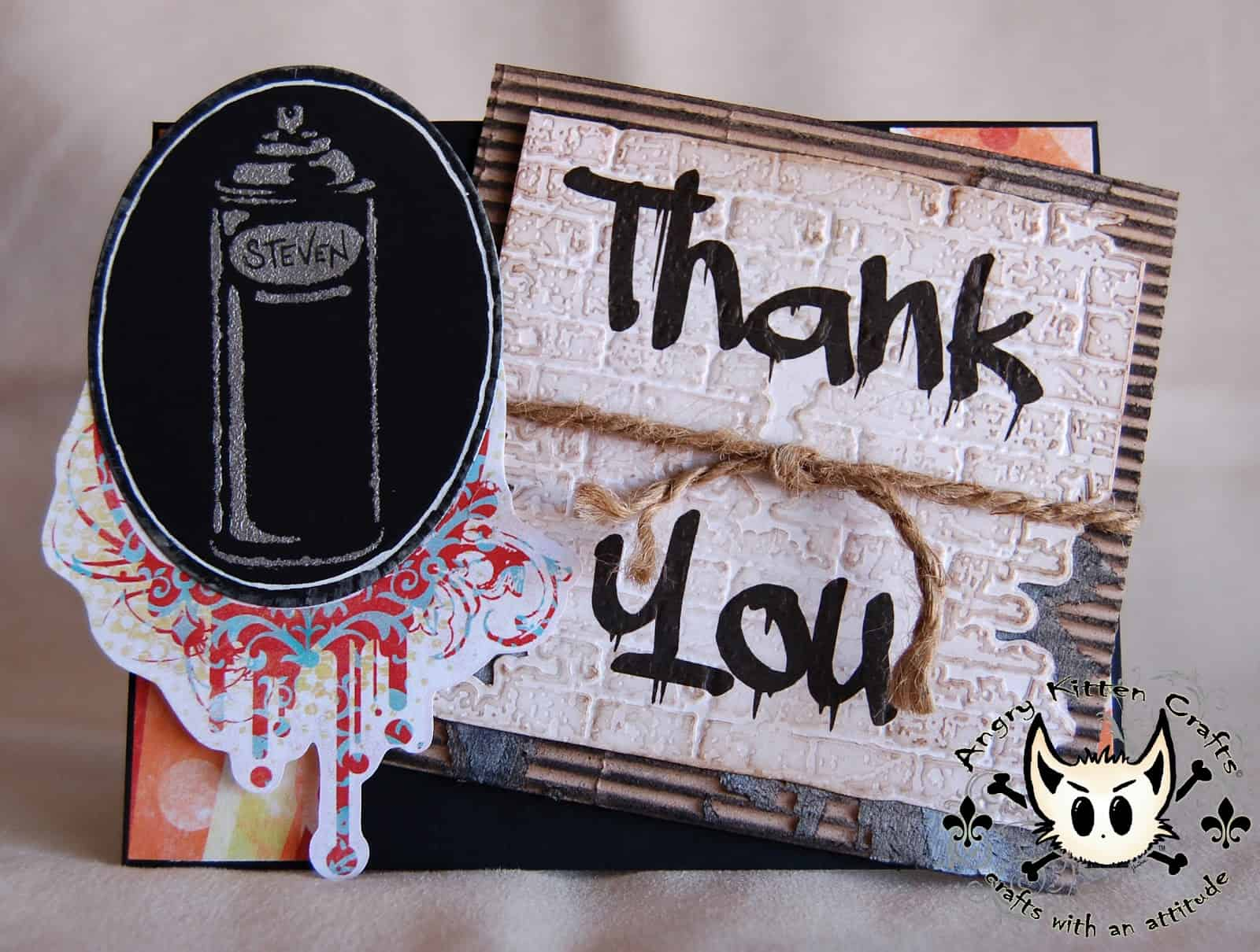 DIY graffiti thank you card