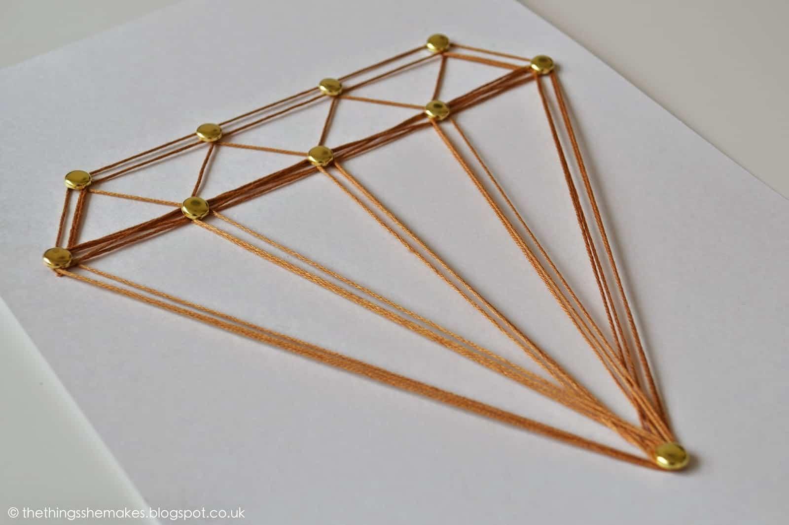 Diamond string art