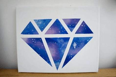 Diamond wall art