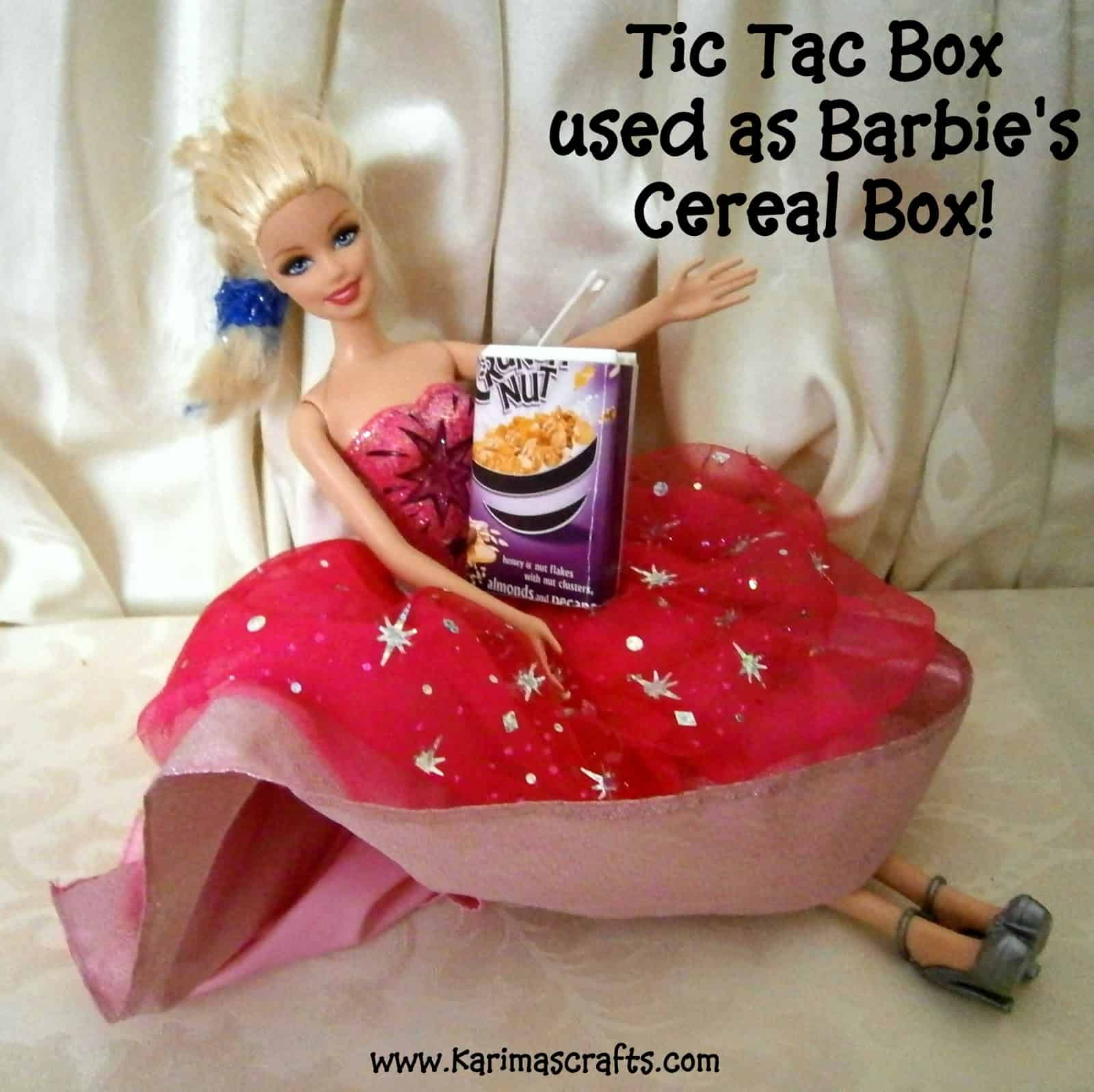 Doll cereal box