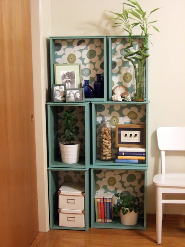 Drawer box shelves