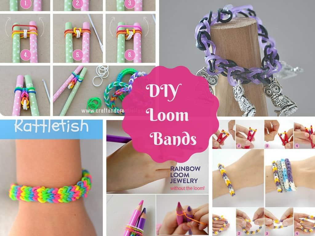 Elastic Rainbow Loom bracelets