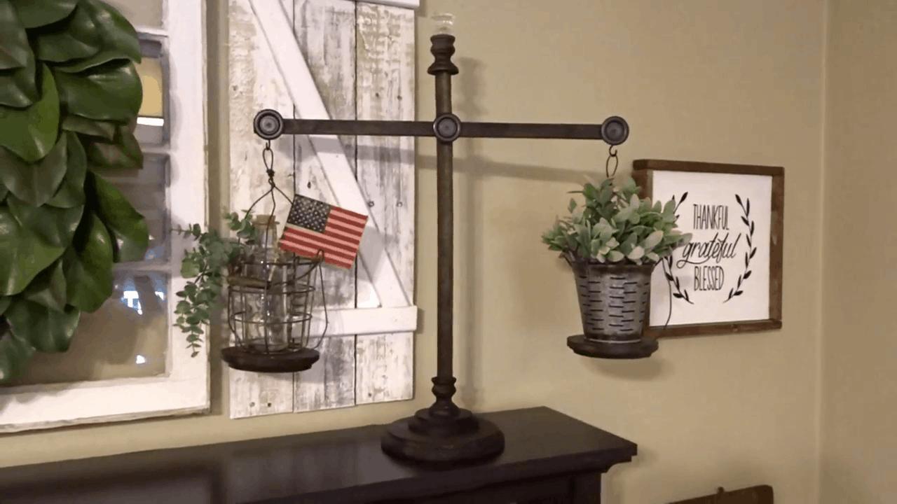 Farmhouse balance scales