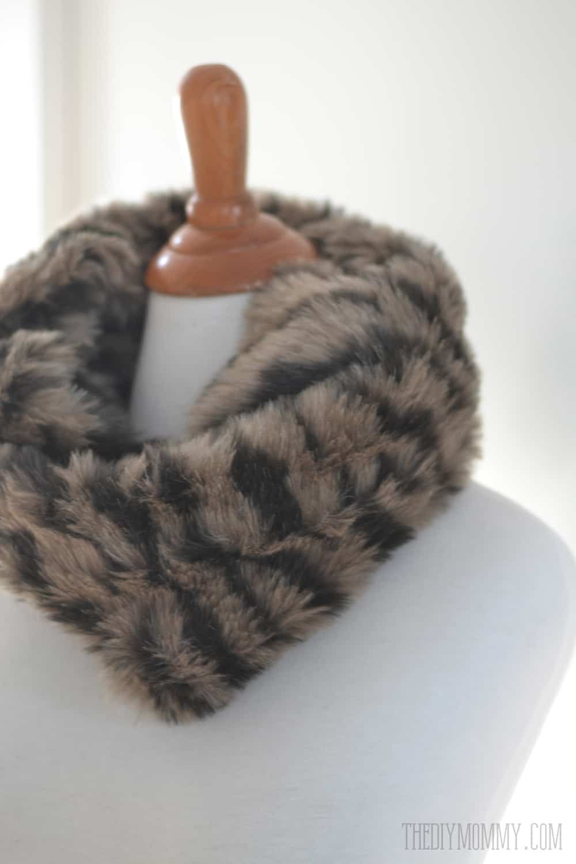 Faux fur cowl scarf