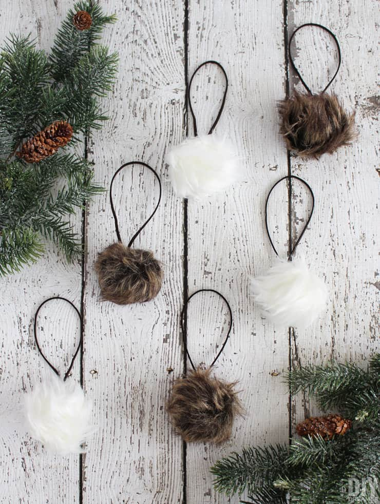 Faux fur ornaments
