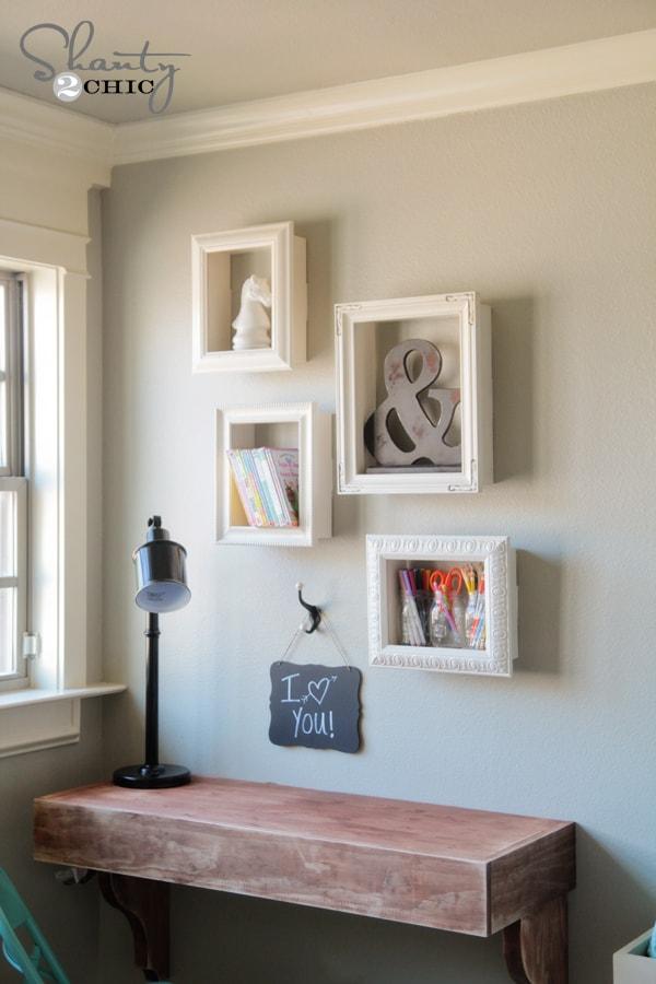 Frame box shelves