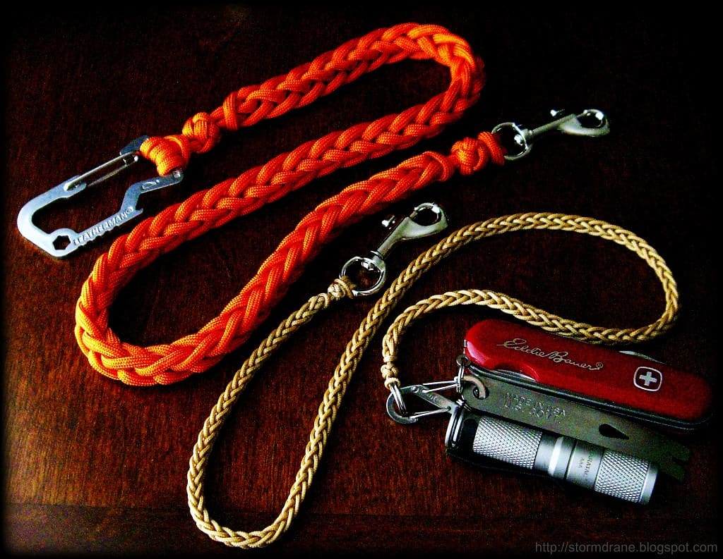 French knit tool lanyard