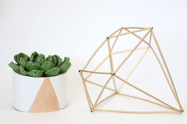 Geometric diamond ornament