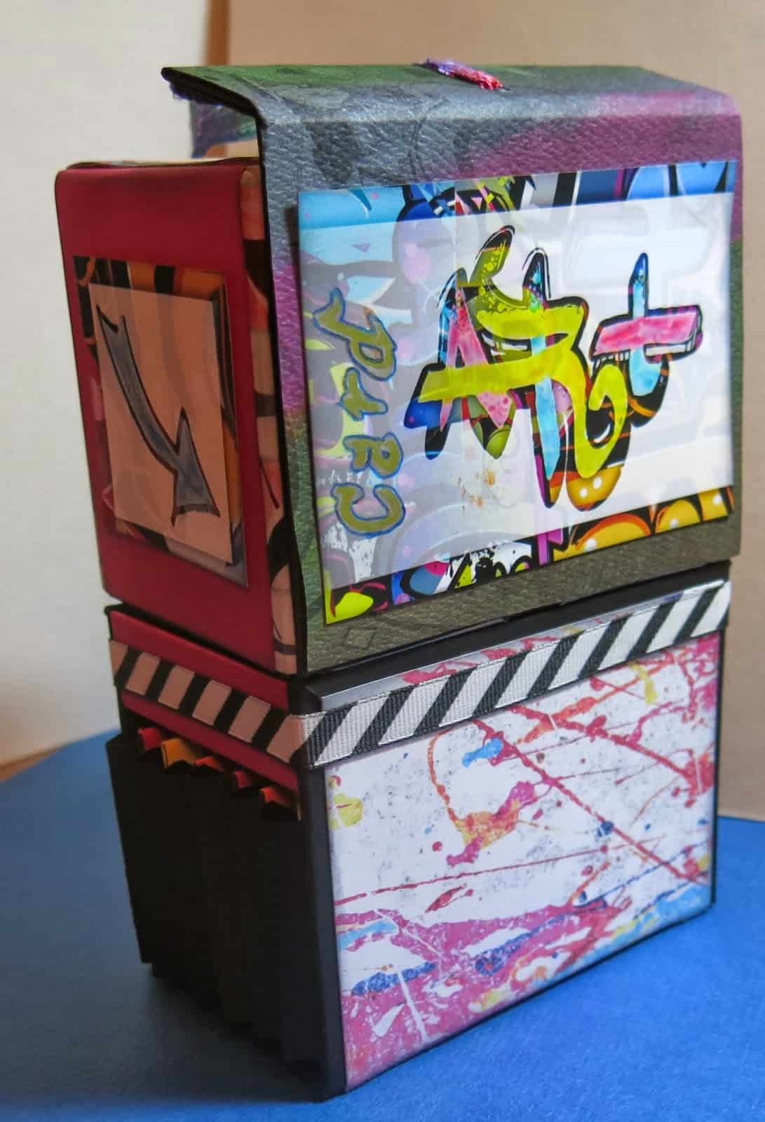 Graffiti inspired art supplies box