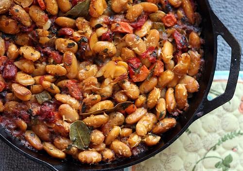 Greek baked bean casserole