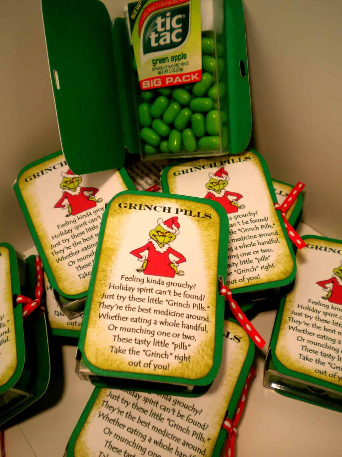 Grinch pills stocking stuffer