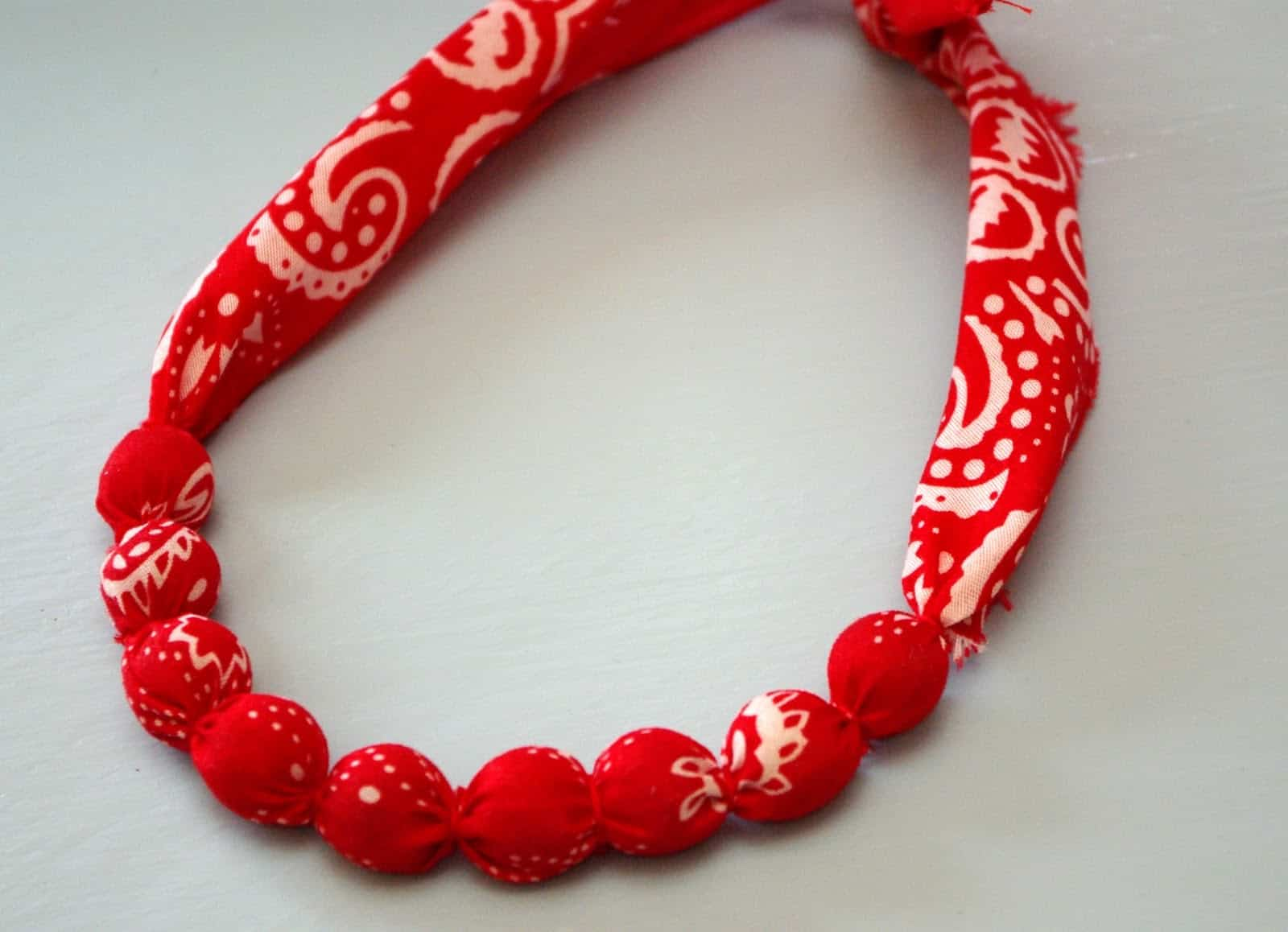 Handkerchief wrapped necklace