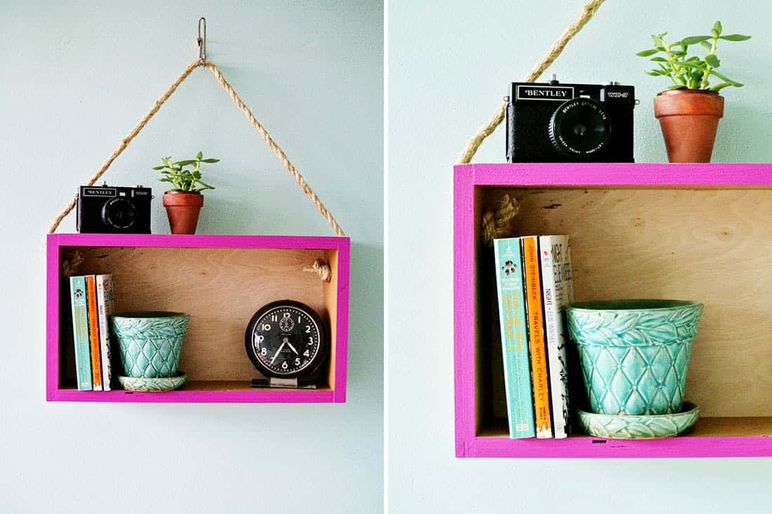 Hanging box shelf