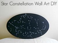 Hot glue constellation wall art 200x150 Sticking It Together in Style: Super Fun Glue Gun Crafts!