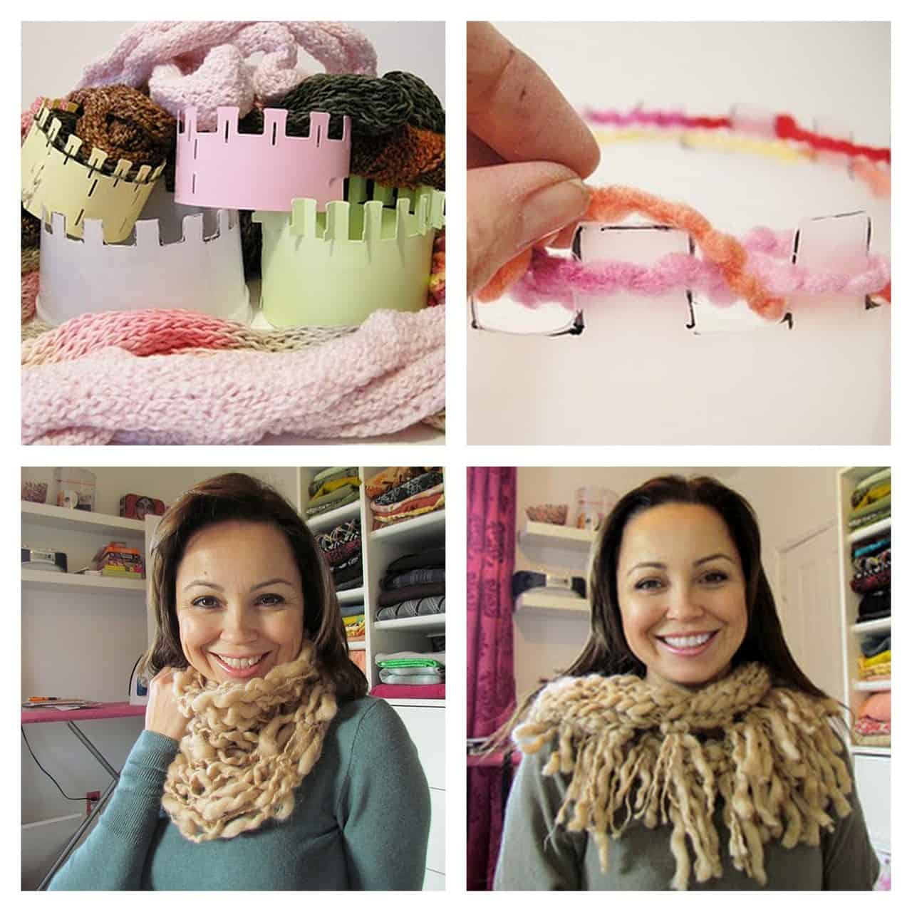 Ice cream tub corked scarves
