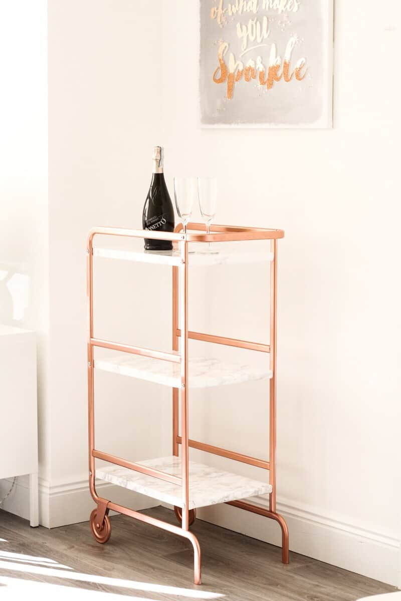 Ikea copper bar cart