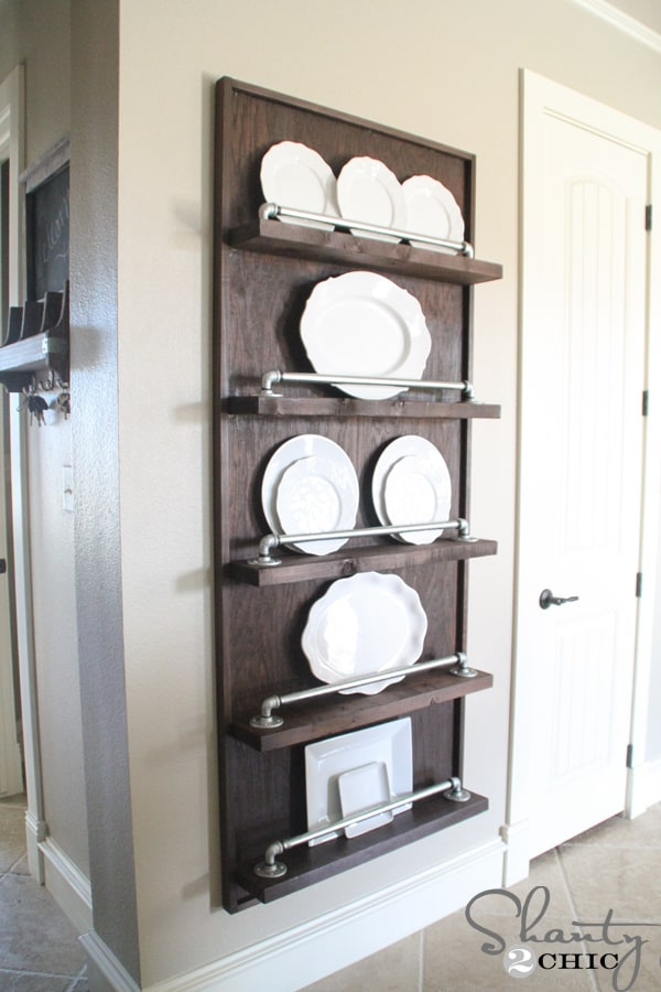 6. Industrial Pipe Plate Rack & DIY Plate Rack: The Best Way to Stack Your Plates