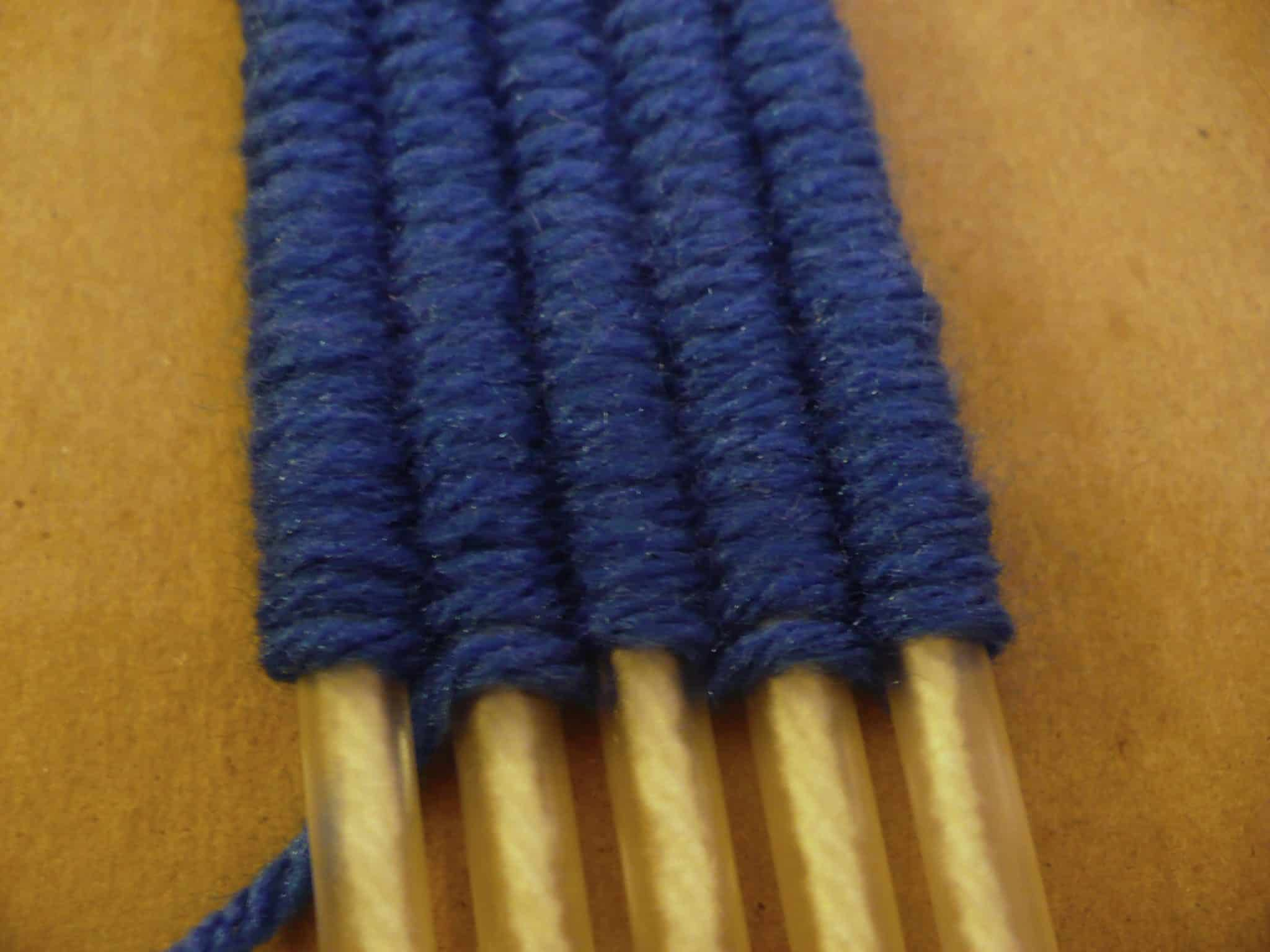 Loom weaving with drinking straws