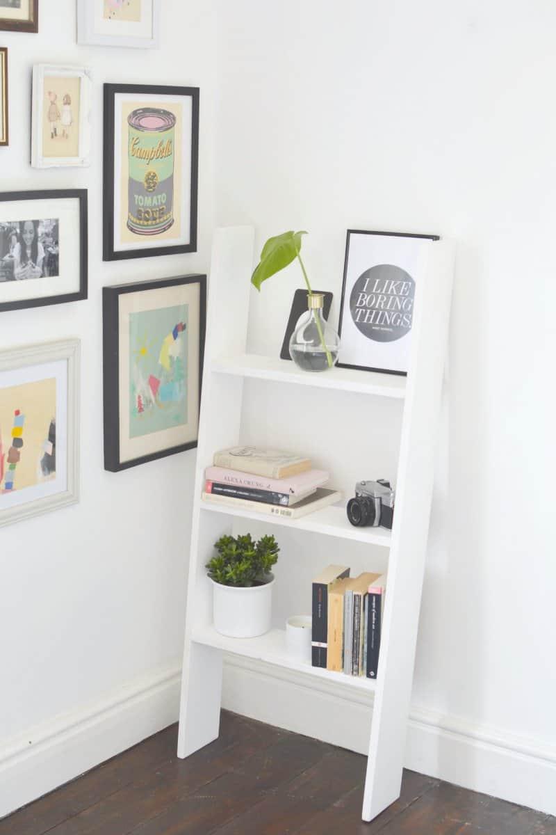 Minimalist ladder shelf