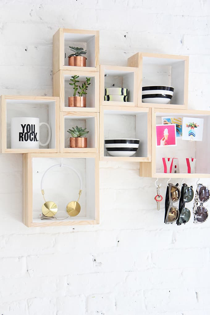 Modern box shelves