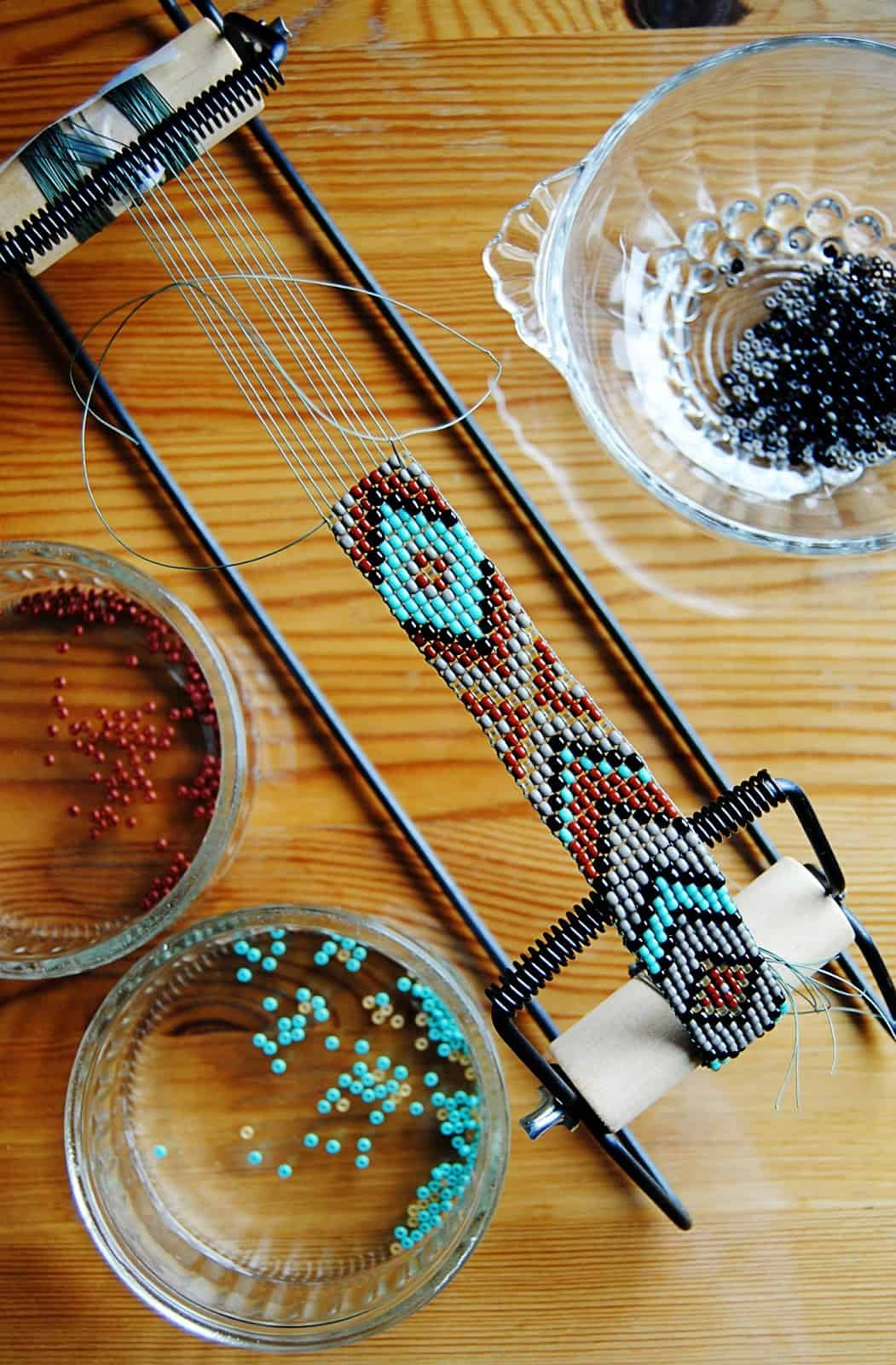 Native American style beading loom belt