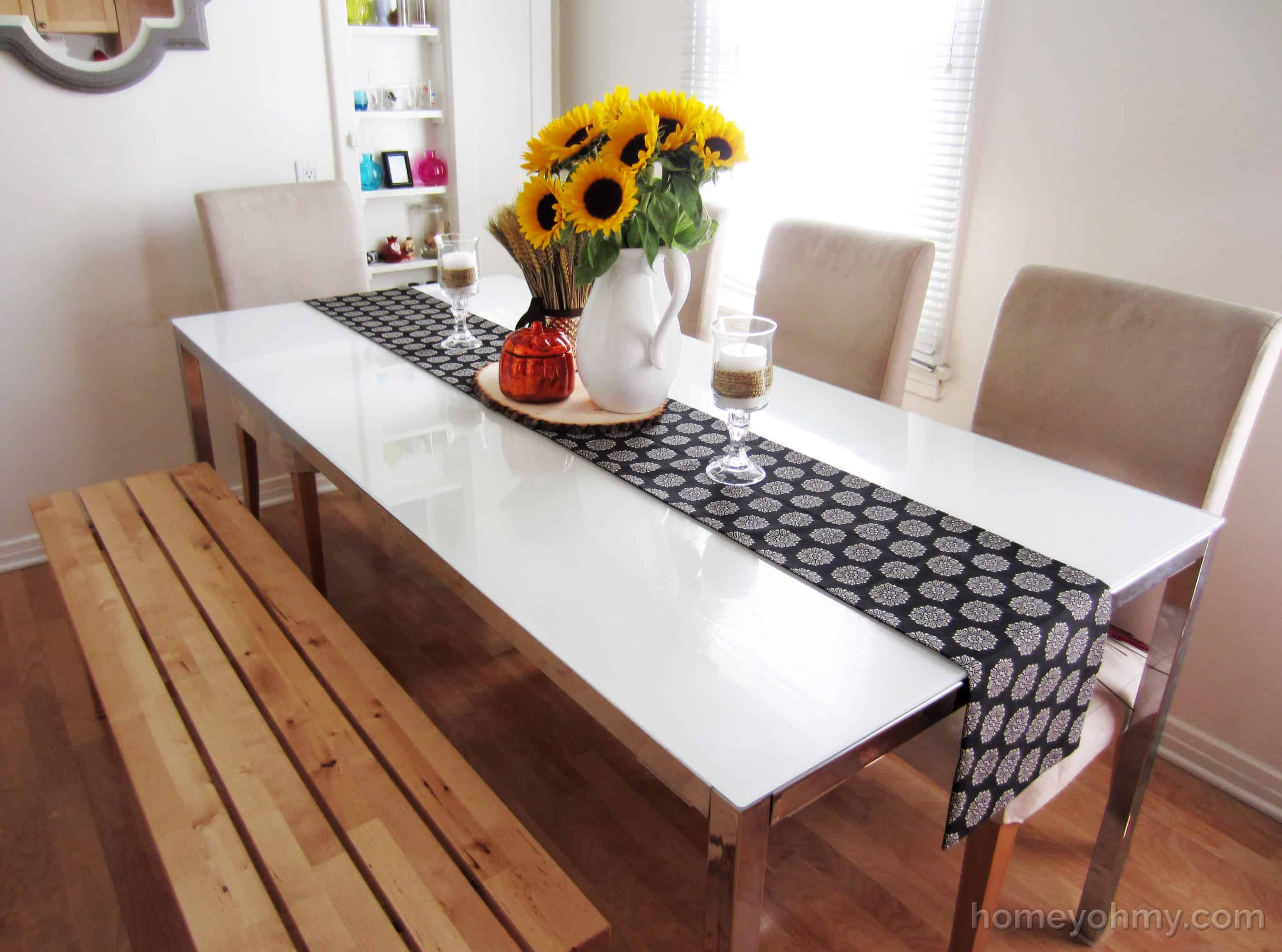No-sew fabric table runner