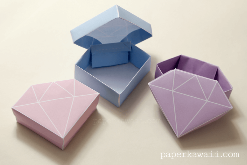 1 Origami Diamond Boxes